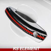 Автомобильный стайлинг кузова из углеродного волокна Ручка двери Anti-столкновения Полоски дифферента Обложка для Audi A4 A5 2017-2022 Принадлежности