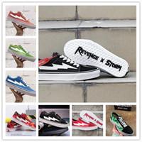 Yeni İntikam X Fırtına Kanye Old Skool Tasarımcı Cavnas Günlük Ayakkabılar Sneakers Teal Siyah Alev Boogie Kayma-On Hafif Kaykay Ayakkabı