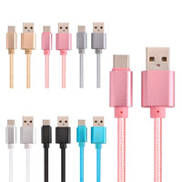 Seasontech عالية السرعة USB كابل نوع C شحن محول مزامنة البيانات معدنية شحن الهاتف محول 0.48mm سمك قوي مزين USB C شاحن