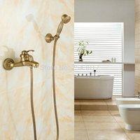 Estilo Europeu Antique Retro Banheiro Faucet Torneira De Cobre Luxo Chuveiro Conjunto Com Hand Chuveiro Antique Banheira Crane ZR006