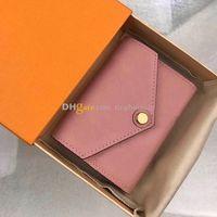 Nouveau designer Box Zoe High High Coin Free M62935 Cuir Pure Gradue Boucle Boucle Portefeuille Portefeuille d'inventaire Emballage Fashion / Casual Wom Ijmt