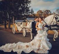 2021 Abiti da sposa in vendita calda su misura Abiti da sposa Abiti da sposa in organza Cappella Treno Abiti da sposa Abiti da sposa economici Plus Size