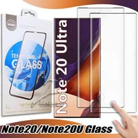 Vaka Dostu 3D Kavisli temperli cam için Samsung S20 S10 Not 20 10 9 S9 S8 artı Ekran Koruyucu Koruyucu Film
