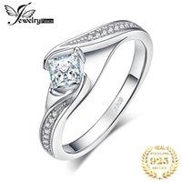 Küme Yüzük Jewelrypalace Prenses Kesim Nişan Yüzüğü Kadınlar Için 925 Ayar Gümüş Promise Düğün Takı