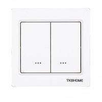 Smart Home Control Z-Wave Plus EU-Frequenz 868.42MHz Zwei-Kanal-Wand-montierter Switch-Sockel-Modul TKB TZ57 86x86mm Typ Relais