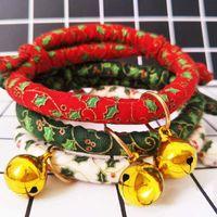 Colliers de chien Laisse Collier décoratif décoratif décoratif avec chiot Bell Chiot Christmas Accessoires Accessoires Collier.,