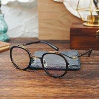 Fashion Sunglasses Frames 2021 vintage rotondo occhiali acetato di occhiali telaio uomini donne retrò miopia prescrizione occhiali ottici occhiali occhiali