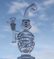 NEWXIAO Bong reciclador DAB sonda tubo de água plataforma de petróleo vidro Fab ovo borbulhador de vidro vidro precipitada com 14,4 milímetros bacia