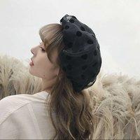 Boinas Para Mujer elegante del lunar de la boina dulce lindo Corea versión de Todo-boinas casquillos para las mujeres Kapelusz Chapéu 2020