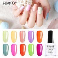 Elite99 10ml Macaron Color Gel For Nail Art Soak Off Base Gel Top Coat UV Polish Manicure Long Lasting Nail Varnish