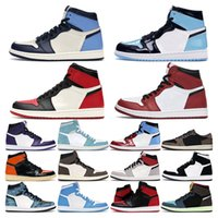 air retro 1     uomo 1s top Obsidian UNC Fearless First Class Flight PHANTOM TURBO GREEN 1 Sneaker sport tabellone trainer misura 5.5-12
