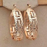 Trendy évider Boucles d'oreilles pour les femmes Gold Filled Géométrie et Convex Femmes Concave Pageant Boucles d'oreilles Bijoux Fashion