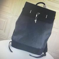M44052 верхнего качества STEAMER натуральной кожа Рюкзаки Классической Мода Плечи Ручка Открытого Путешествие Мужчина большая емкость рюкзак