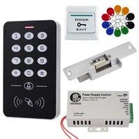 Teclado controlador independiente kit de sistema de control de acceso RFID 1000 Usuarios cerradura electrónica de alimentación 125KHz Identificación Mandos Etiquetas