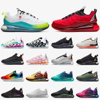 max mx-720-818 720 818 حذاء رياضي رجالي نسائي للجري في جميع أنحاء العالم أحمر أبيض أسود يتفاعل أحذية رياضية WR ISPA