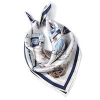 Шелги женские женские платфорки, верхний сорт восточный шелковый малый квадратный шарф, напечатанный платок для женщин, 52 * 52см