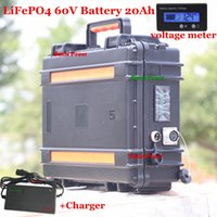 LiFePO4 60V Lithium Battery pack 20Ah for 1500W 1000W Electric Scooter ebike electric wheelchair rickshaw golf cart battis