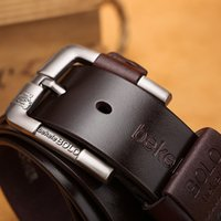 2020 Men Belt Genuine Leather Luxury Strap Male Belts for Men New Fashion Classic Vintage Pin Buckle Strap for Male Jean New