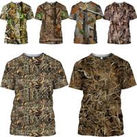 Alberi Camouflage T shirt Mamba top estate calda 3D del gioco di caccia della giungla Nascondi uomo magliette Ghillie Suit Uomini Donne maglietta Harajuku