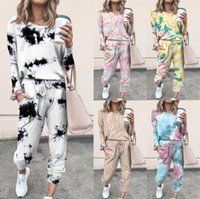 Fashion Women Two Piece Set New Printed Casual Long Sleeve T...