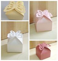 (100 шт / много) Классический Свадебный подарок конфеты коробка дизайн бабочки бумаги упаковка коробки для девичника партии благосклонности коробки