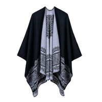 Women's Lace Pattern Elegant Classic Catwalk Performance Wearing Shawl Pastoral Style Split Cape