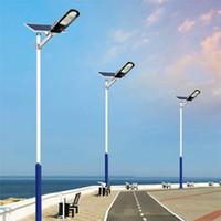Akıllı Uzaktan Kumanda 60W 150W 180W 300W LED Güneş Sokak Işık Açık Su geçirmez IP65 Garden Courtyard Sokak Lambası