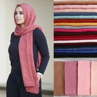 Moda piena cover-up crinca hijab sciarpa pula cotone cotone donna scialli e avvolge turbante foulard hijabs foulard malese