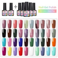 30 / 40pcs prego Gel Polish Kit Glitter Soak Off UV Lâmpada LED Para Nail Art Degisn Set UV Vernis Semi Permanente Top Coat 8ML