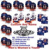 Stanley Cup Final New York Islander Jersey Mathew Barzal Jersey Anders Lee Matt Martin Josh Bailey Cal Clutterbuck Hockey Jerseys personalizzato