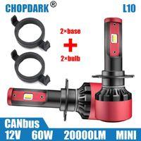 LED H7 LED phare de voiture Ampoules et base Adaptateur Retenue Holder Pour 508 2008 3008 nouvelle Mondeo C5 DS5 DS6
