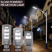 40W LED solaire capteur extérieur lumière avec la lumière de commande et capteur radar gris pour extérieur mur ou un poteau en Plaza, Parc, jardin, cour,