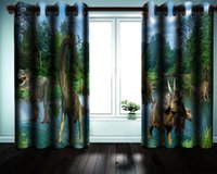 3d animal Cortina Niño dormitorio del apagón Cortina antigua dinosaurios en el Bosque de la fantasía decorativa interior Hermosa cortinas opacas
