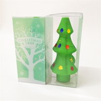 개인 모양 크리스마스 트리 파이프 실리콘 흡연 휴대용 핸드 헬드 연기 총 유리 버블 오일 버너 액세서리 봉