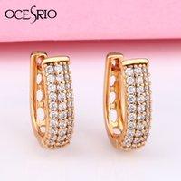OCESRIO 585 Rose Gold Ohrringe runde natürliche Zircon hängende Ohrringe Tropfen EarringFashion Schmuck Hochzeit ers-t47