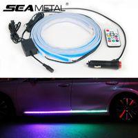 Auto-Innenbeleuchtung LED-Auto-Tür-Willkommen Lampe Flexible Fernbedienung RGB-Farb Underglow Unterboden-System Neon-Leuchtstreifen