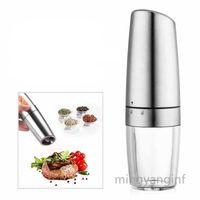 Moedor elétrico Pimenta automática de pimenta de pimenta alimentado a bateria Afusividade ajustável LED luz my-inf0351