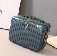 Suitcase Women Small Makeup Bag Light Portable Travel Bag Mini Cute Lady Cosmetic Handbags