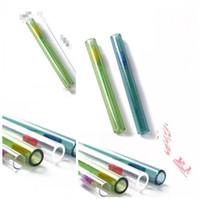 Comum Óculos Tubo Reto G2 suco de vidro claro Flor do queimador de petróleo da tubulação de palha 100 milímetros Multi Color Popular alta qualidade 4SG