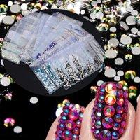 1pack Mix SS4-SS16 Tırnak Rhinestones Renkli AB Kristal Cam Taşlar Olmayan Sıcak Fix Flatback Strass Taşlar Parlak Tırnak Sanat Dekorasyon
