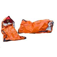 Outdoor Life Emergency Sleeping Bag Mantenha térmica Quente E Impermeável Blanket PE alumínio Ailm primeiros socorros de emergência Camping Survival Ferramentas VT1644