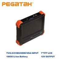 BoxカメラカメラCCTV Tester7inchテスタービデオAHD IPビデオテスターミニモニター4 ITH 13 ITH VGA入力セキュリティ