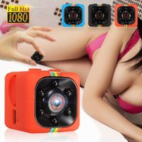 야외 스포츠 사진 핫 미니 마이크로 스포츠 카메라 비디오 레코더 SQ11 전체 HD 1080P 야간 투시경 캠코더 휴대용 캠 DV 캠코더