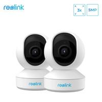Mini Kameralar REOLINK 5MP Bebek Monitörü 3X Optik Zoom Kamera 2.4G 5G Wifi Kültilti Kapalı Ev Gözetim IP E1