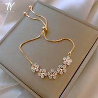 2020 nouveau cristal classique cinq feuille fleur bracelet meilleur ami de l'étudiant bracelet de bijoux de mode féminine coréenne