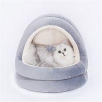 Qualitäts-Katzenhaus Betten Kätzchen Haustier Katzen Schlafmatten Cozy Bed Spielzeug-Hund für kleinen Zwinger Startseite Cave Schlafen Nest Indoor Produkte