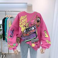 Sweater Femmes Spring Nd Utin Thin Section Lâche Version coréenne de la marée sauvage Sous Harajuku BF Langue Vent paresseux Début Spring Mschf Top manteau