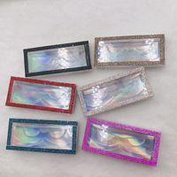 10 20 50pcs wholesale rhinestones false eyelash packaging box fake 3d mink eyelashes boxes Diamond Shine Box case lashes empty