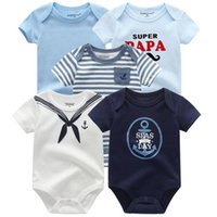 Baby Rompers 5-Pack Infantil Комбинезон Boygirls Одежда Летнее Высокое Качество Полосатый Newborn Ropa Bebe Костюм одежды KG-121