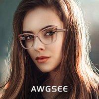 AWGSEE 2020 المرأة عين القط نظارات أزرق فاتح حجب نظارات الحاسوب وصفة طبية نظارات oculos دي ديسكانسو femilino